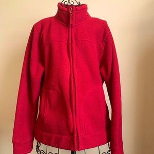 Red Fleece Zip-Up Large Jacket